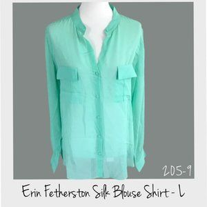Erin Fetherston Silk Blouse Shirt Size L NWT